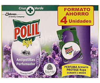 Polil Raid Antipolillas en colgador con aroma a lavanda 4 uds