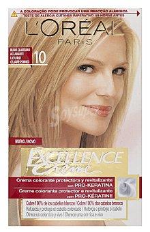 Excellence L'Oréal Paris Tinte creme nº 10 rubio muy claro aclarante  Caja 1 unidad