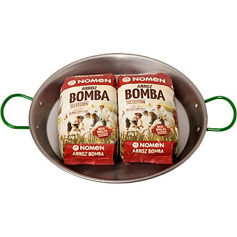 NOMEN arroz bomba selección pack 2 envases 1 kg