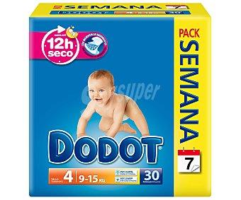 Dodot Pañales talla 4 para bebés de 9 a 15 kilogramos 30 unidades