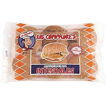 Panadería Los Compadres Pan de hamburguesa integral con sésamo 320 g