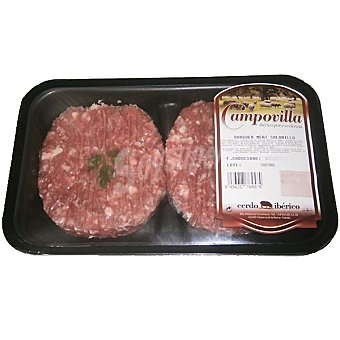 CAMPOVILLA Hambureguesas mostaza de cerdo ibérico bandeja 220 g 2 unidades