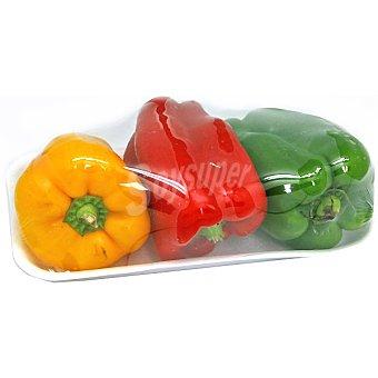 Pimiento tricolor ecológico Bandeja 400 g