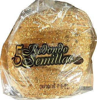 PANIFICADORA ALCALA Pan redondo cortado 5 semillas (con más semillas) 1 unidad (500 g)