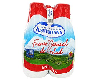 Central Lechera Asturiana Leche Entera Pack 4x1,5 litros