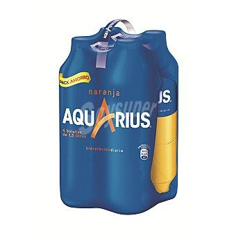 Aquarius Bebida isotónica de naranja Pack 4x1,5 litros