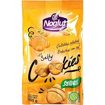 SANTIVERI NOGLUT Salty Cookies galletitas saladas sin gluten bolsa 100 g bolsa 100 g