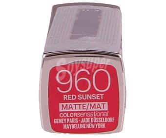 Maybelline New York Pintalabios nº960 color sensational the creamy mattes