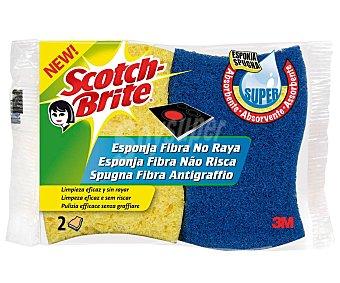 Scotch Brite Estropajo de fibra absorbente, no raya scotch brite 2 uds