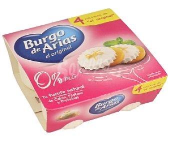 Burgo de Arias Queso fresco desnatado Tarrina de 62,5 gramos pack de 4