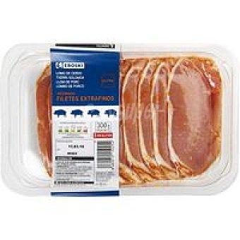 Eroski Filetes de lomo adobado de cerdo extrafino Bandeja 300 g