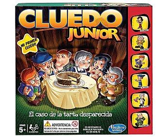 Hasbro Juego de investigación Cluedo junior, el caso de la tarta desaparecida, edición infantil del popular juego Cluedo, de 2 a 6 jugadores 1 unidad