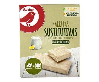PRODUCTO ALCAMPO Barritas sustitutivas yogurt y limón 6 x 32 g