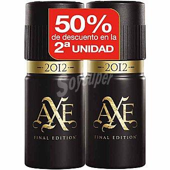 Axe Desodorante 2012 (pack precio especial 2ª unidad al 50%) Pack 2 spray 150 ml