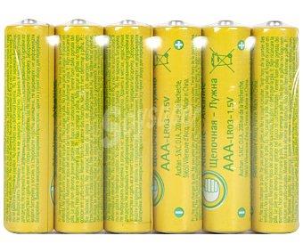 Productos Económicos Alcampo Pilas Alcalinas AAA LR03 1,5V 6u