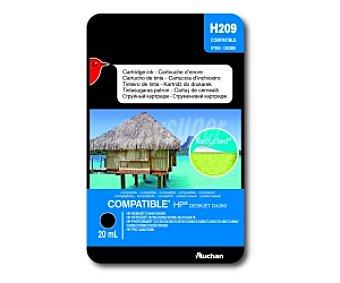 Auchan Cartucho Negro N°350 CB335(H209) - Compatible con impresoras: HP deskjet D4260 / D4360 - HP officejet J5730 / J5780 / J5785 / J6410 / J6415 - HP photosmart C2130 / C4250 / C4270 / C4270 / C4280 / C4380 / C4390 / C4480 / C4580 / C4585 / C5280 / D5280 / D5360 -HP PSC 4480 / 5280