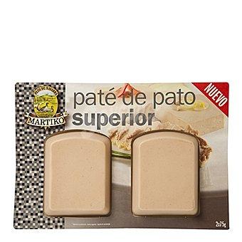 Martiko Paté de pato superior 2x75 g