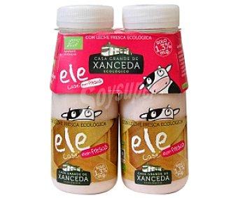 Xanceda Yogur Líquido Lcasei Sabor Fresa Ecológico 2 Unidades de 165 Gramos