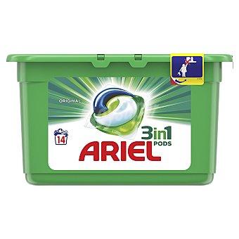 Ariel Detergente máquina 3 en 1  Maleta 14 tabletas