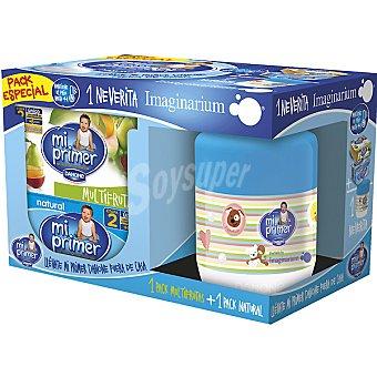 Danone Mi Primer Danone Yogur natural + yogur multifrutas pack 4 unidades 125 g con regalo neverita Imaginarium Pack 4