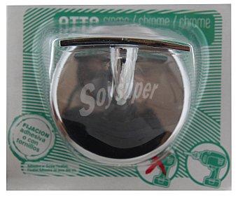 OTTO Percha cromada con doble fijación, adhesiva o con tornillos 1 Unidad
