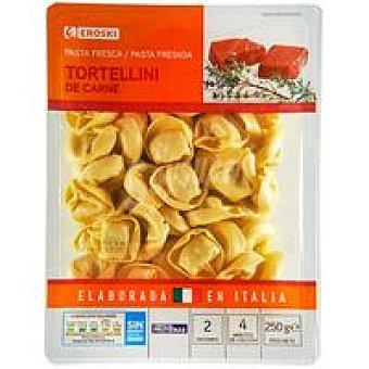 Eroski Tortelloni de carne Bandeja 250 g