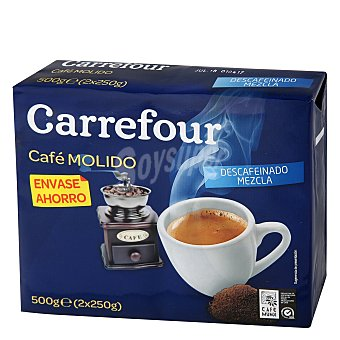 Carrefour Café molido mezla descafeinado 2 x 250 g