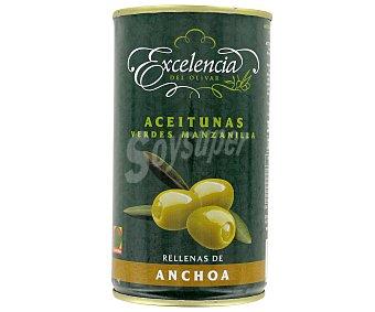 Excelencia Aceitunas verdes de manzanilla rellenas de anchoa 150 gramos