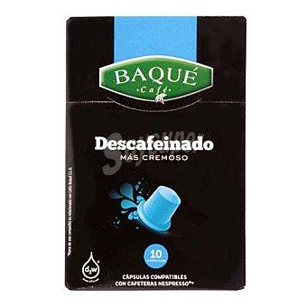 Baqué Café descafeinado Caja 10 monodosis