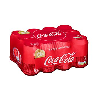 Coca-Cola Refresco de cola Pack 12 latas de 33 cl