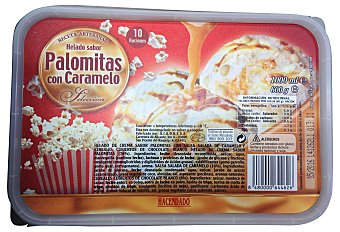 HACENDADO Helado tarrina palomitas con caramelo Tarrina 1L