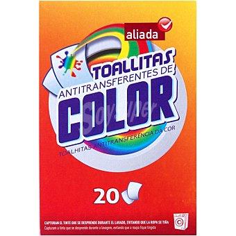 Aliada Toallitas anti-transferencia de color Caja 20 unidades
