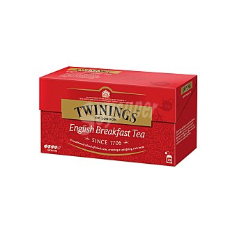 Twinings Té English Breakfast Caja 25 sobres