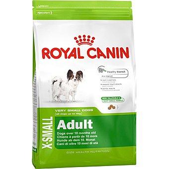 ROYAL CANIN X-SMALL ADULT Alimento especial para perros adultos de peso hasta 4 kg con fibra bolsa 15 kg 4 kg