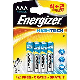 Energizer Pila alcalina AAA blister Hightech + 2 gratis 4+2 unidades