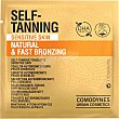 Self-Tanning Natural & Fast Bronzing toallitas autobronceadoras para pieles sensibles Paquete 8 unidades Comodynes