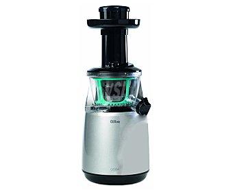 QILIVE Q.5134 Licuadora a presión, 150w, 1 velocidad, función reverse, sistema anti-goteo, 2 salidas (una para liquido y otra para residuos), fácil de limpiar, Incluye: 2 jarras de 1L, cepillo de limpieza, cortador de fruta, 1L