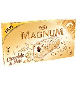 MAGNUM de FRIGO Helado chocolate nuts magnum 6 ud