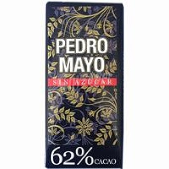 Pedro Mayo Chocolate negro 62% cacao Tableta 125 g