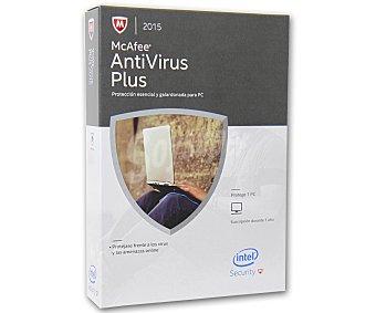 McAfee Antivirus 1Pc Plus 2015 1u