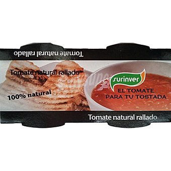 SURINVER Tomate natural rallado Pack 2 tarrinas 115 g