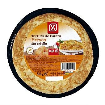 DIA Tortilla refrigerada sin cebolla Envase 500 gr