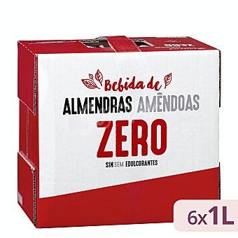Hacendado Bebida de almendras zero sin azúcares añadidos Pack 6 briks x 1 l