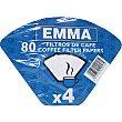 Filtros de café 1x4 retractilado paquete 80 unidades Emma