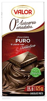 VALOR Chocolate puro sin azúcar tableta 125 g