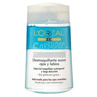 Dermo Expertise L'Oréal Paris Desmaquillador suave para ojos y labios, especial maquillaje waterproof, para ojos sensibles Frasco 125 ml