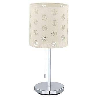 EGLO Chicco 1 Lámpara de sobremesa en color cromo y blanco
