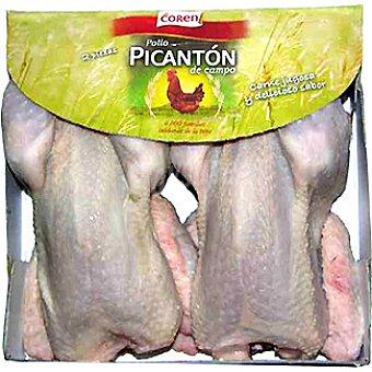 Coren Picantones de pollo de corral Bandeja 2 unidades