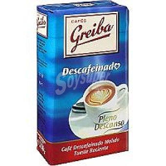 Greiba Café molido descafeinado natural Paquete 250 g