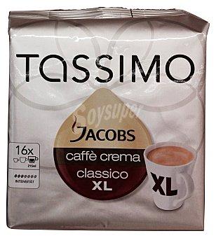 Tassimo Cafe capsula (compatible cafetera tassimo) jacobs xl crema Paquete 16 u